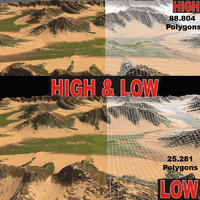 3d model mountain terrain