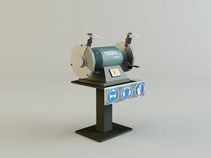 grinding machine 3d model