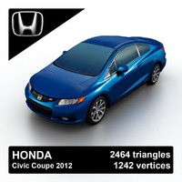 3d model 2012 honda civic coupe