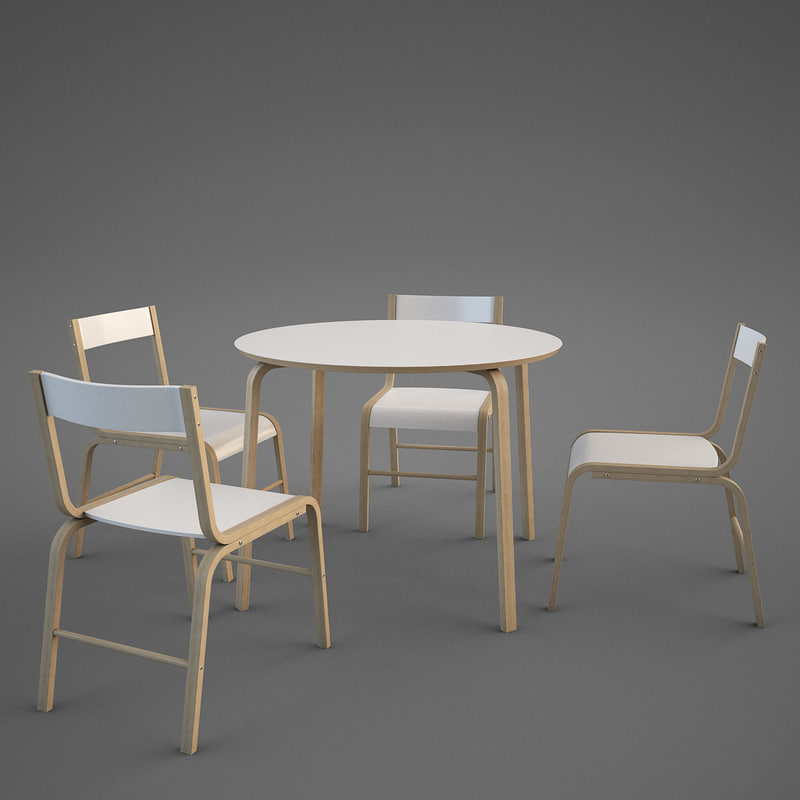 modern ikea skoghall chair table 3d max