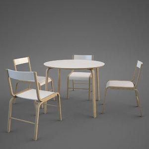 modern ikea skoghall chair table 3d max