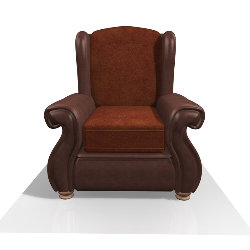 fabric leather chair 3d 3ds