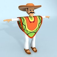 rigged cartoon mexican max