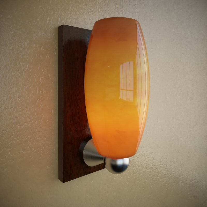 onyx wall sconce 3d