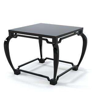3d oriental coffee table model