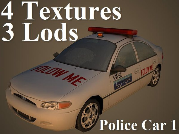 3ds max police car 1