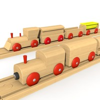 Kids Wooden Train Set