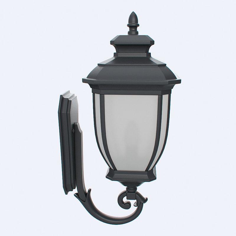 obj outdoor lantern
