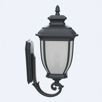 obj outdoor lantern