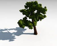 tree leaves 3d c4d