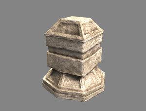 3d stone altar model