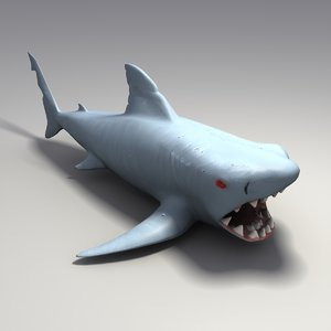 3d model toy rubber shark