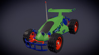 3d rc car inspired toy model