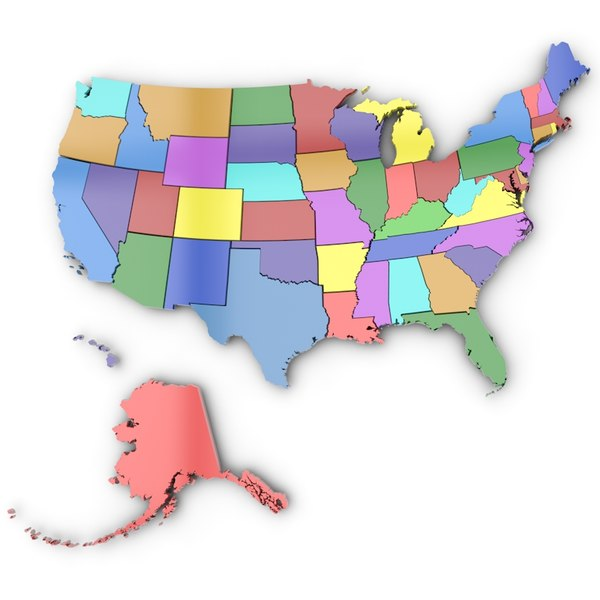 united states america 3d c4d