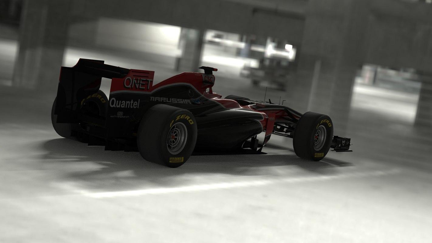 virgin f1 racing 3d obj