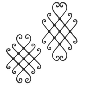 wrought iron elements 3d obj