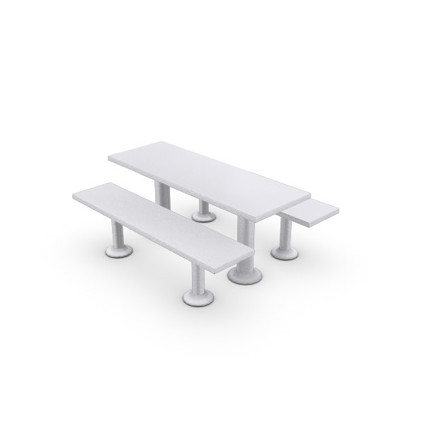 free outdoor table 3d model