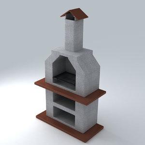 barbecue exterior 3d model