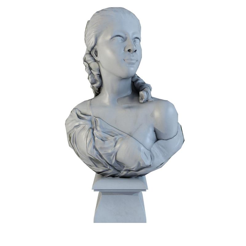 decorative bust 3d max