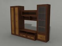 3d model wardrobe shelves