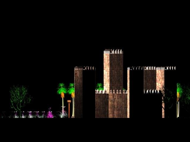 3d model castle night