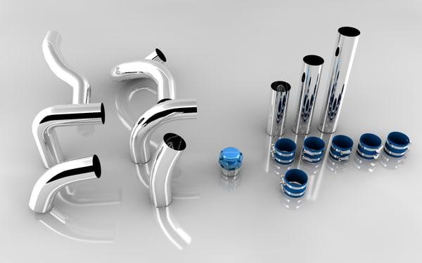 tubes blow 3d c4d