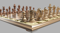 3d chess chess-men model