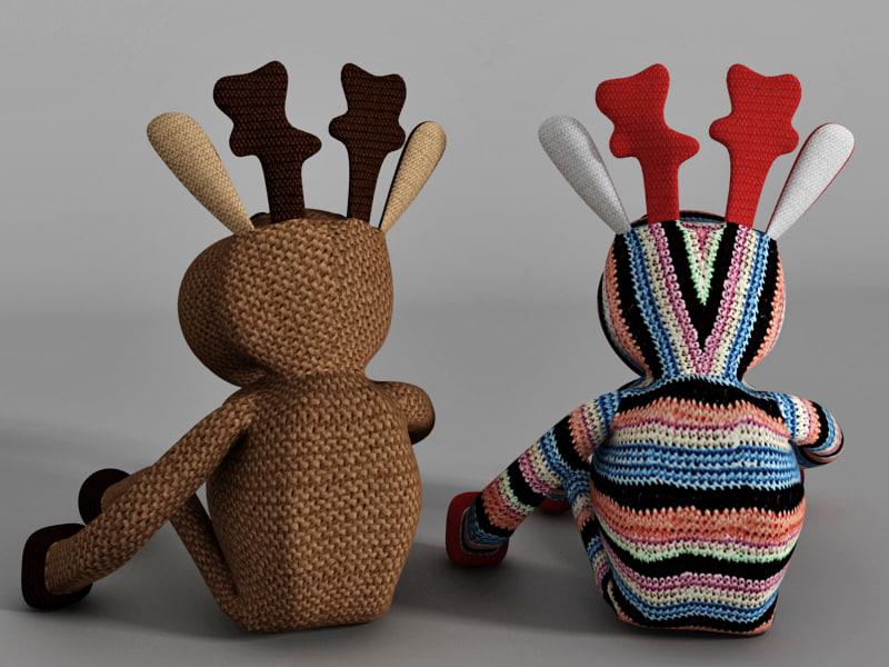 3d toy deer