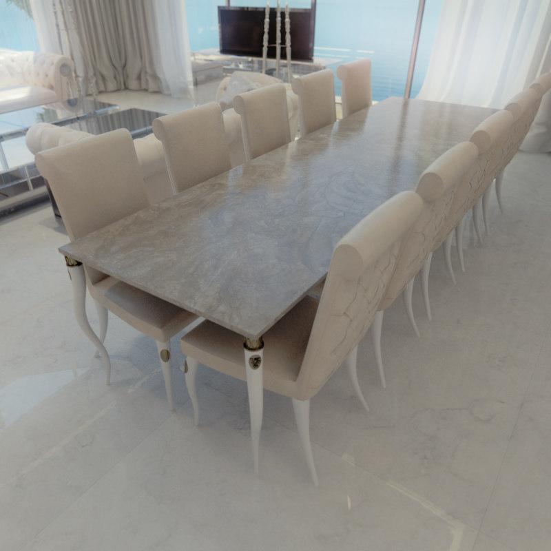visionnaire esmeralda table 3d max