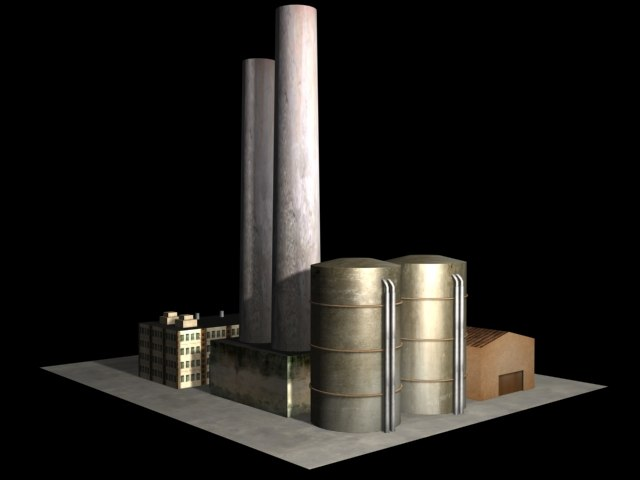 simple factory 3d max