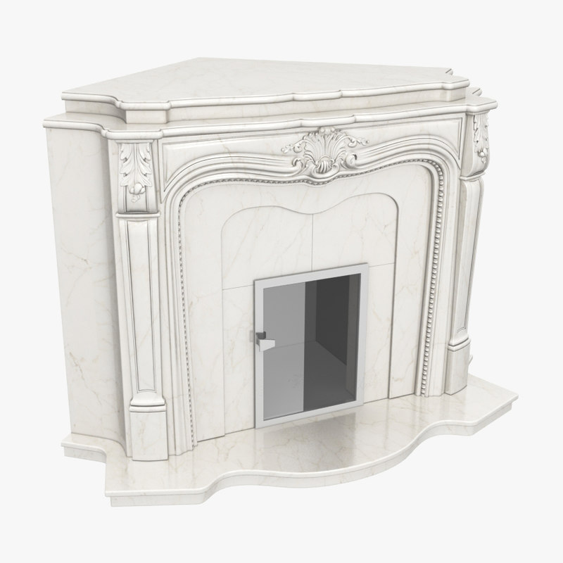 3d fireplace corner model