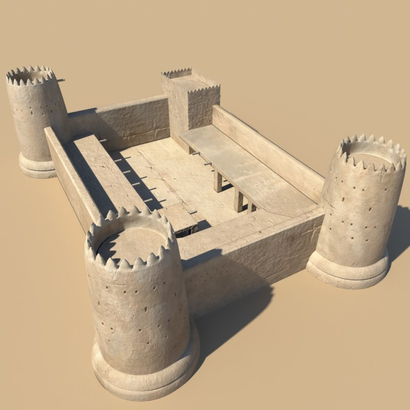 Desert fort 3d model 3d model sites