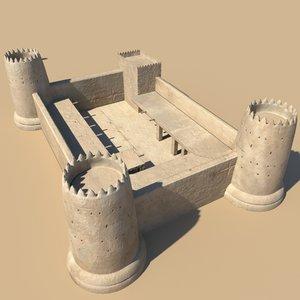 desert fort 3d model