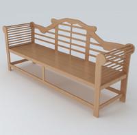 3dsmax garden bench