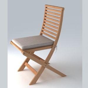 3d model garden chair