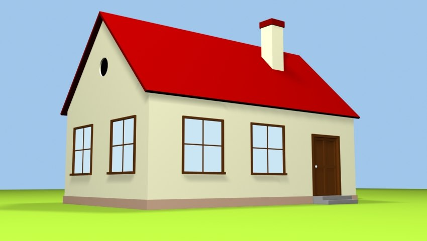simple cartoon house max