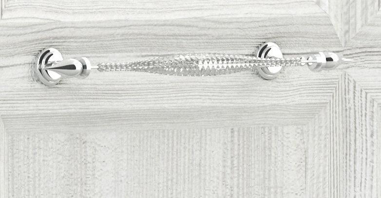 vintage faceted crystal handle 3d model