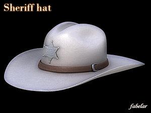 sheriff hat 3d max