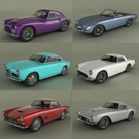italian classic cars 3d max