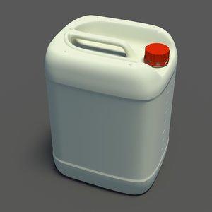 plastic jerrycan 3d fbx