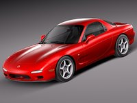 3ds max mazda rx7 rx-7 sport coupe