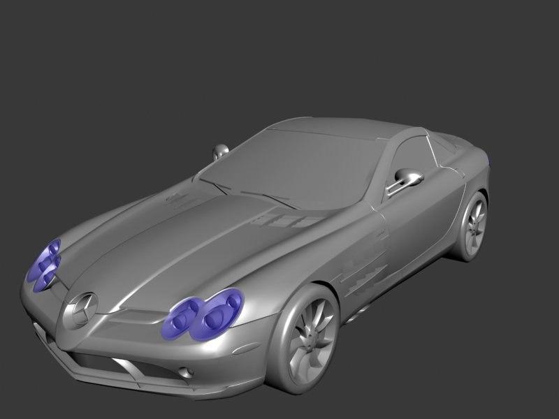 3d mercedes benz roadster model
