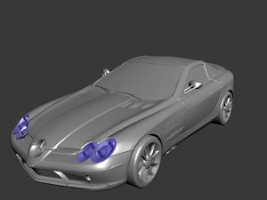 3d mercedes benz roadster model