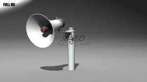 3d model single megaphone