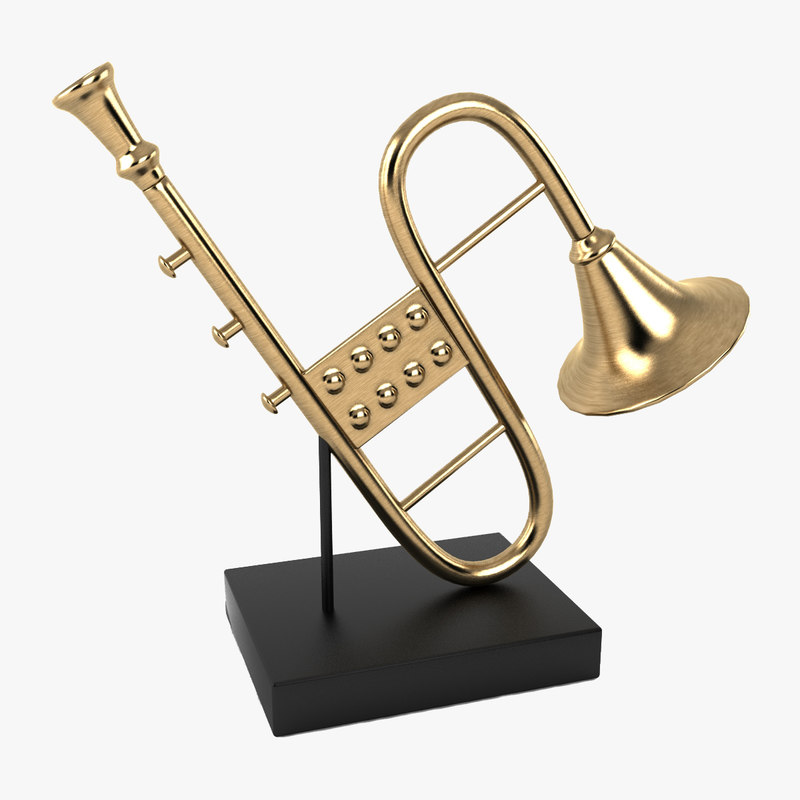 3d musical instrument decoration model