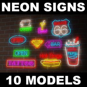 3d neon signs model