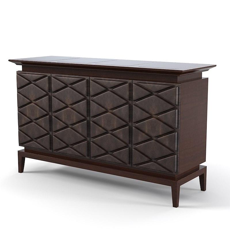 modern service commode 3d model. Black Bedroom Furniture Sets. Home Design Ideas
