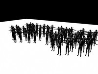 3d model of ninja army