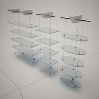 3d cattelan italia nuvola shelves model