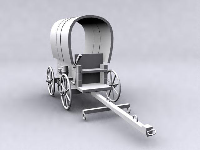 3ds max vehicle pioneer wagon